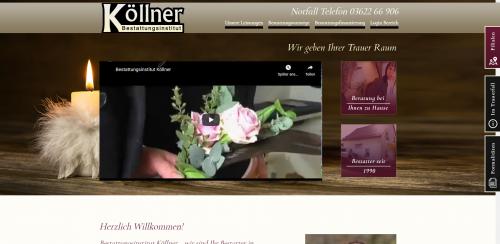 Firmenprofil von: Ihr einfühlsamer Partner im Todesfall: Bestattungsinstitut Köllner in Bad Tabarz
