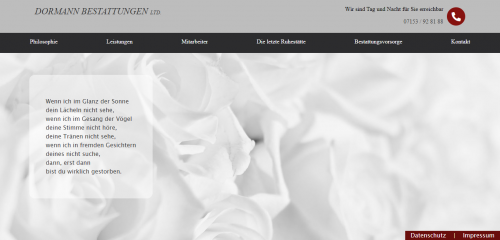 Firmenprofil von: Der Bestatter Ihres Vertrauens: Dormann Bestattungen in Reichenbach