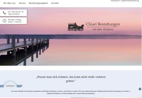 Firmenprofil von: Chiari Bestattungen in Berlin – zuverlässige Entlastung im Trauerfall