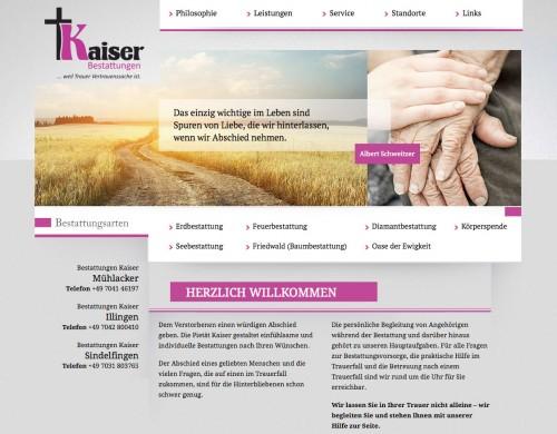 Firmenprofil von: Kaiser Bestattungen in Mühlacker