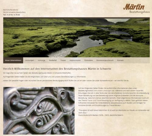 Firmenprofil von: Würdevolle Bestattungen: Bestattungshaus Märtin KG in Schwerte