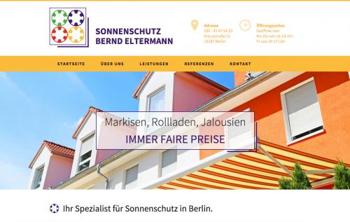 Firmenprofil von: Markisen in Berlin: Sonnenschutz Bernd Eltermann