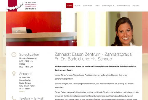 Firmenprofil von: Zahnärzte Dr. med. dent Frauke Barfeld und Daniel Schaub in Essen