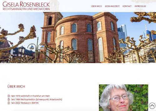 Firmenprofil von: Rechtsanwältin und Mediatorin Gisela Rosenbleck in Frankfurt am Main
