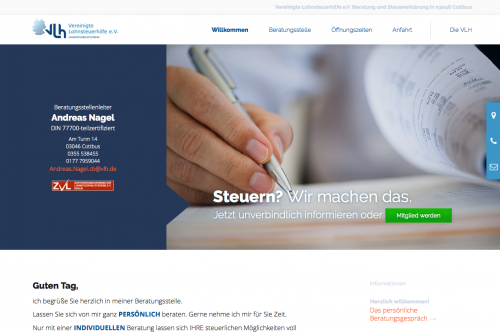 Firmenprofil von: Vereinigte Lohnsteuerhilfe e.V. Andreas Nagel in Cottbus