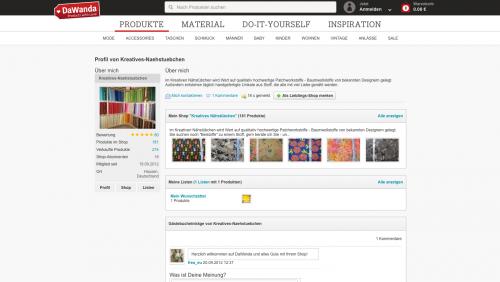 Firmenprofil von: Vielfältige Patchworkstoffe aus dem Kreativen Nähstübchen