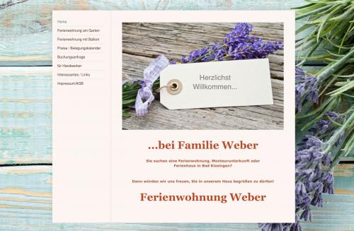 Firmenprofil von: Ferienwohnung Weber in Bad Kissingen