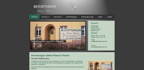 Firmenprofil von: Traditionelles Bestattungsinstitut in Plauen: Bestattungen Sabine Phenn