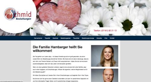 Firmenprofil von: Schmid Bestattungen in Göppingen