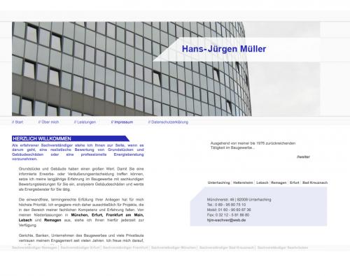 Firmenprofil von: Hans-Jürgen Müller – ein erfahrener Sachverständiger