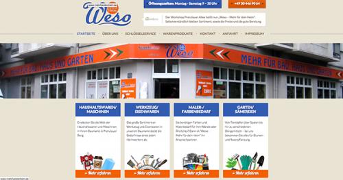 Firmenprofil von: Weso:  Der Baumarkt in Berlin im Prenzlauer Berg
