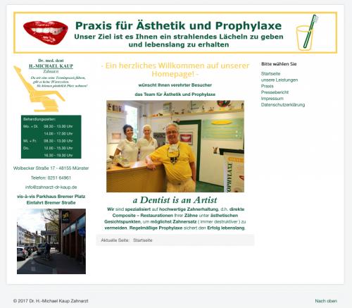 Firmenprofil von: Bleaching in der Praxis für Ästhetik und Prophylaxe von Dr. med. dent. H.-Michael Kaup in Münster
