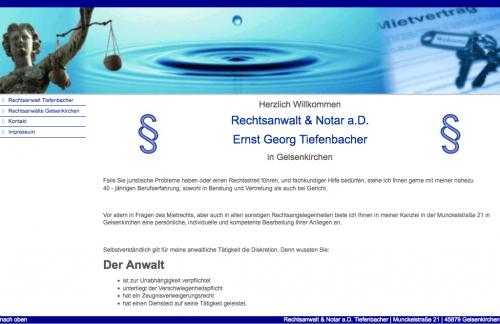 Firmenprofil von: Anwalt für Mietrecht in Gelsenkirchen: Rechtsanwalt und Notar a.D. Ernst Georg Tiefenbacher