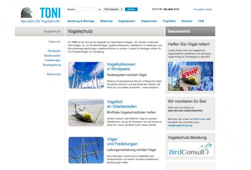 Firmenprofil von: Der Spezialist für Vogelabwehr und -schutz: TONI Bird Control Solutions GmbH & Co. KG: TONI liegt der Vogelschutz am Herzen