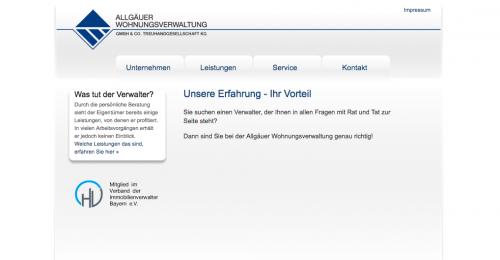 Firmenprofil von: Allgäuer Wohnungsverwaltungsgesellschaft mbH & Co. Treuhandgesellschaft KG