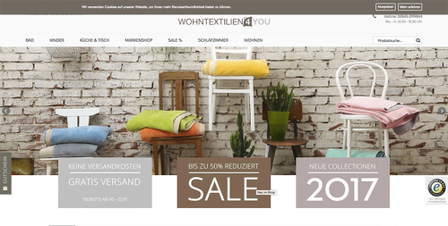 Firmenprofil von: Hochwertige Bettwäsche im Online-Shop: Wohntextilien 4You
