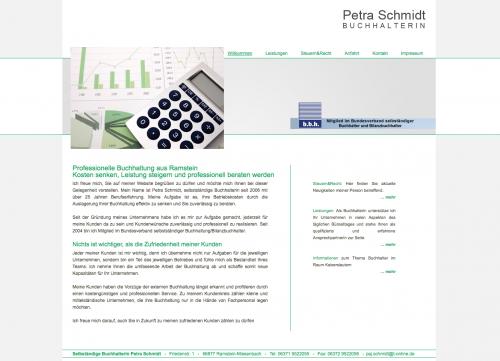 Firmenprofil von: Finanzbuchhaltung bei Kaiserslautern: Selbstständige Buchhalterin* Petra Schmidt