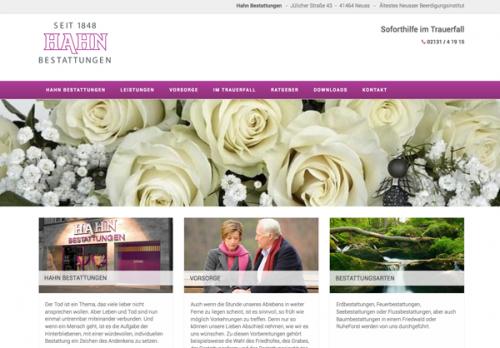 Firmenprofil von: Würdevoller Abschied bei Hahn Bestattungen in Neuss