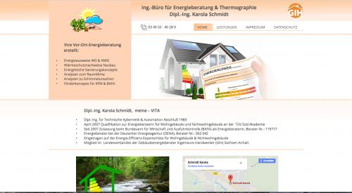 Firmenprofil von: Ingenieurbüro für Energieberatung & Thermographie in Gräfenhainichen OT. Schköna