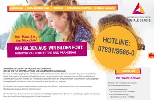Firmenprofil von: Paritätische Schulen für soziale Berufe gGmbH in Hausach und Offenburg