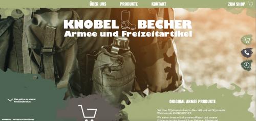 Firmenprofil von: Der Shop für Militärkleidung in Deutschland: Knobelbecher Armee- und Freizeitartikel GmbH