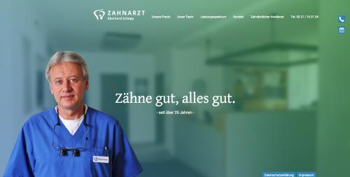 Firmenprofil von: Zahnarzt Bielefeld – Eberhard Schepp hat vollstes Vertrauen in Sie und Ihre Zähne