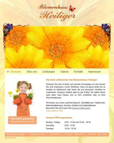 Firmenprofil von: Blumenhaus Heiliger in Köln
