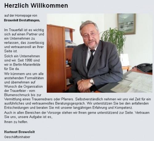 Firmenprofil von: Bruweleit Bestattungen in Berlin Marienfelde: Im Trauerfall zuverlässig an Ihrer Seite