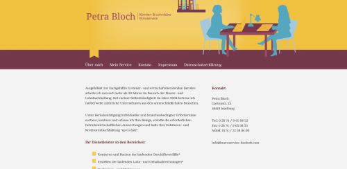 Firmenprofil von: Ihr Büroservice bei Wesel: Kontier- und Lohnbüro und Büroservice Bloch