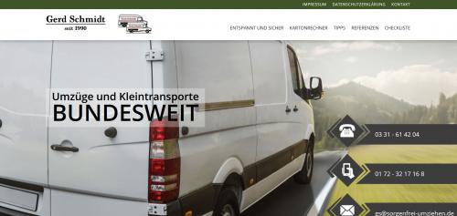 Firmenprofil von: Ihr Partner für stressfreie Umzüge in Potsdam: Gerd Schmidt Kleintransporte