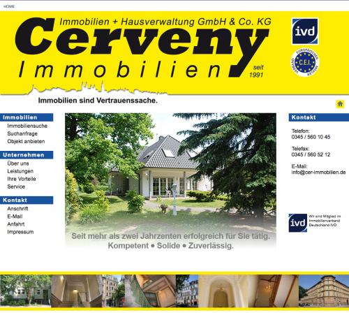 Firmenprofil von: Cerveney Immobilien und Hausverwaltung GmbH & Co. KG in Halle/Saale