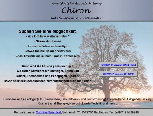 Firmenprofil von: AK-CHIRON in Reutlingen – Arbeitskreis für Gesunderhaltung