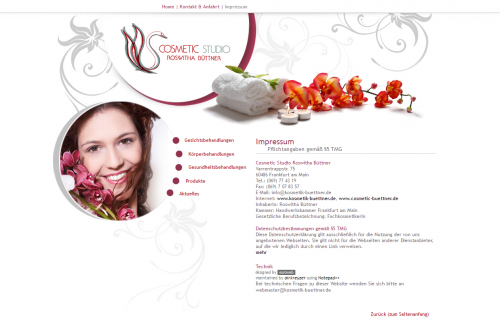 Firmenprofil von: Cosmetic Studio Roswitha Büttner in Frankfurt am Main