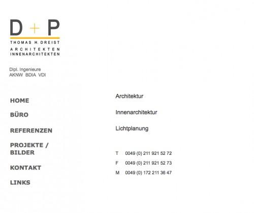 Firmenprofil von: D+P Architekten Thomas H. Dreist in Düsseldorf