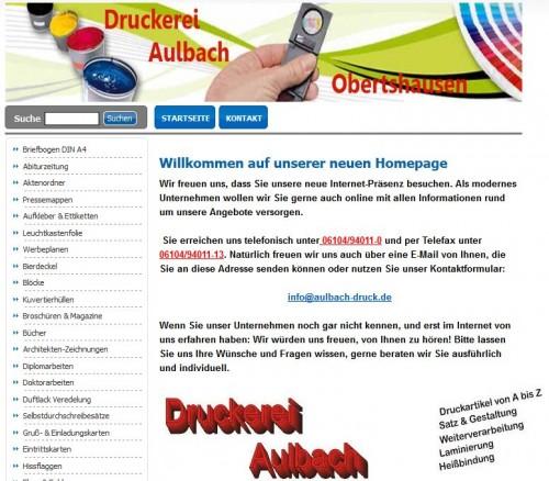 Firmenprofil von: Druckerei Aulbach in Obertshausen nahe Offenbach
