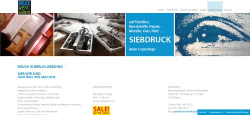 Firmenprofil von: Siebdruck in Berlin: Druckwerkstätten Osloer Straße