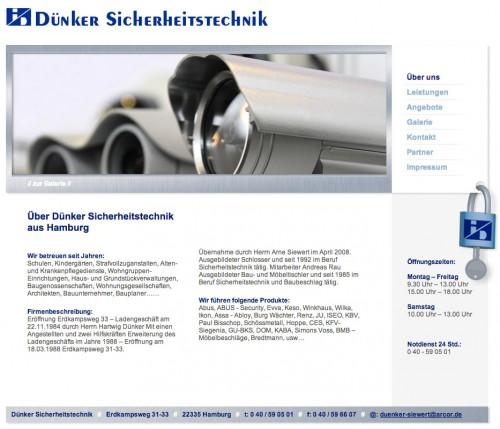 Firmenprofil von: Schlüsseldienst in Hamburg: Dünker Sicherheitstechnik
