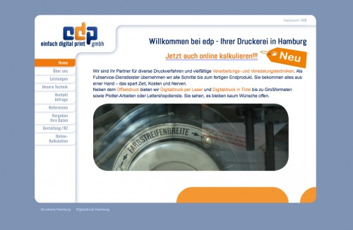 Firmenprofil von: Druckerei edp in Hamburg Ihre Fullservice-Druckerei