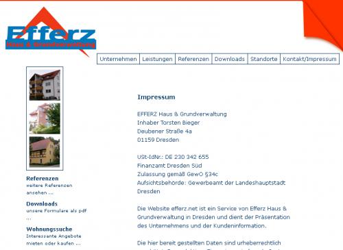 Firmenprofil von: Efferz Haus & Grundverwaltung im Raum Chemnitz