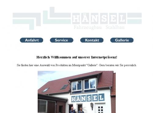 Firmenprofil von: H & R Hänsel GbR, Fahrzeugbau und Stahlbau in Tangermünde