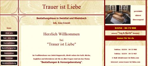 Firmenprofil von: Trauer ist Liebe Bestattungen in Rheinbach