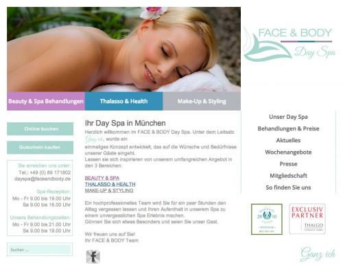 Firmenprofil von: Kosmetikstudio FACE & BODY Day Spa in München