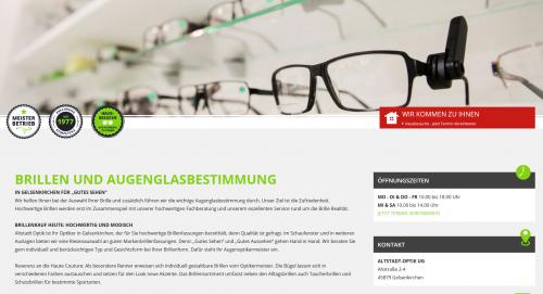 Firmenprofil von: Exklusive Brillen dem Trend voraus – der Altstadt-Optiker in Gelsenkirchen