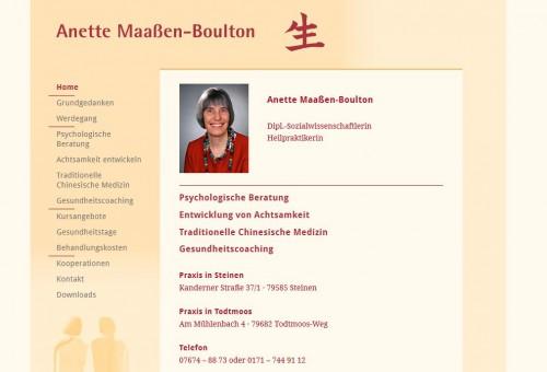 Firmenprofil von: Heilpraktikerin in Steinen: Anette Maaßen-Boulton