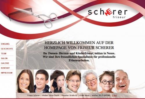 Firmenprofil von: Friseur Scherer in Neuss