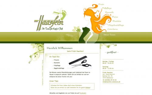 Firmenprofil von: Friseur in Rathenow: Frisör Haarfein