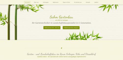 Firmenprofil von: Gartenoasen von Galabau Sahm - Ihr Gärtner aus Solingen