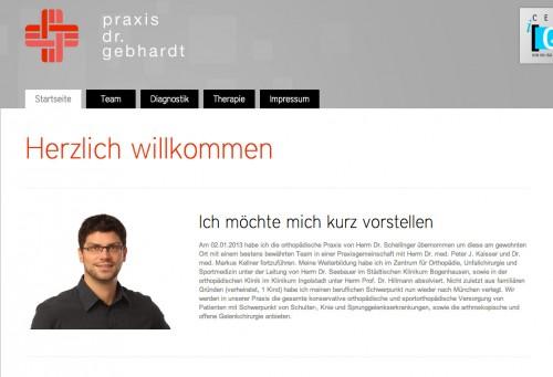 Firmenprofil von: Praxis Dr. Gebhardt in München