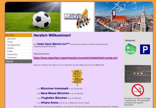 Firmenprofil von: Gemütliche Zimmer im Hotel Garni Maria´s Inn *** in Garching bei München