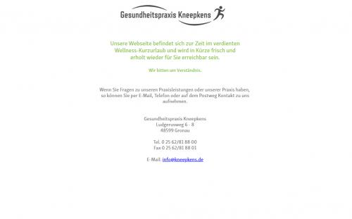 Firmenprofil von: Gesundheitspraxis Kneepkens: Vielfältige Physiotherapie in Gronau